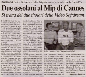 Due Ossolani al MIP di Cannes