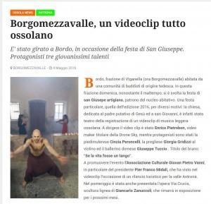 Borgomezzovalle, un videoclip tutto ossolano