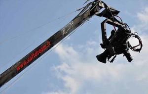 crane con testa mobile da 12 mt per spettacoli